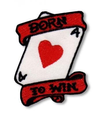 Rockabilly Aufnäher Born to Win