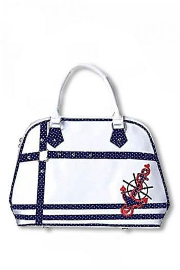 Rockabilly Handtasche weiß