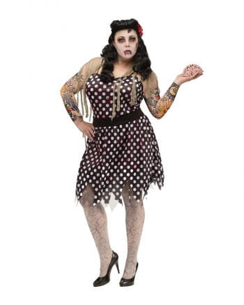 Rockabilly Zombie Costume Plus Size Women