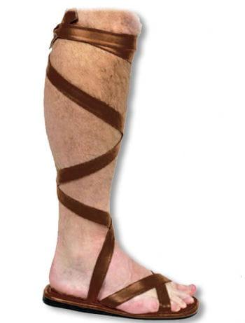 Braune Gladiator-Sandalen M