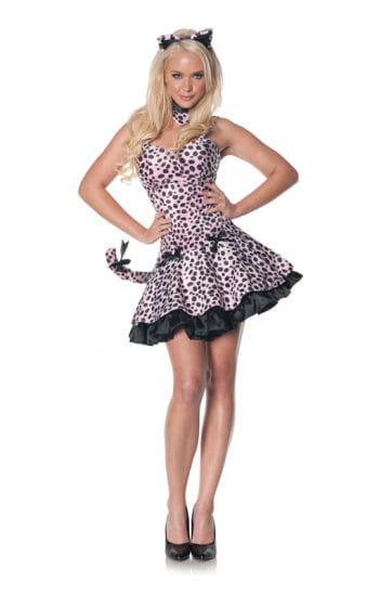 Pink leopard dress