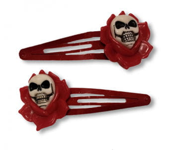 Roses hair clips red