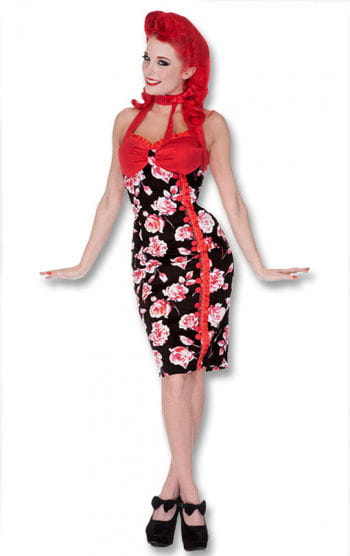 Roses dress black-red