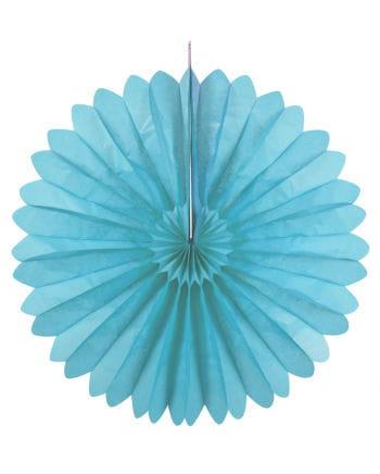 Faltfächer hellblau 60 cm