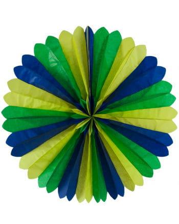 Rosette Fan blue / yellow / green 60cm