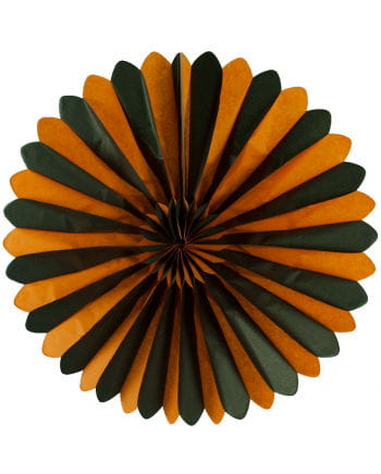Orange-Schwarzer Rosettenfächer 60cm