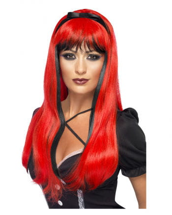Cosplay Wig Witch red / black