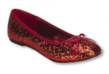 Rote Glitzer Ballerinas 37 UK 6 US 8