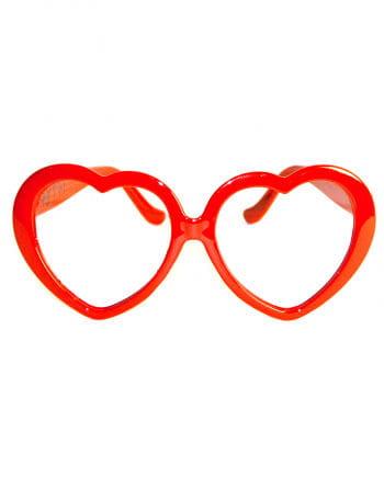 Herz Brille Rot