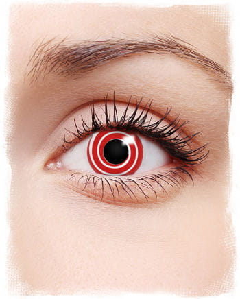 Red spiral contact lenses