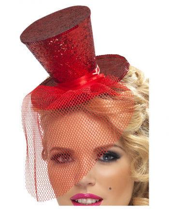 Mini Hut Rot mit Tüll