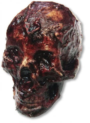 Rotting skull latex small
