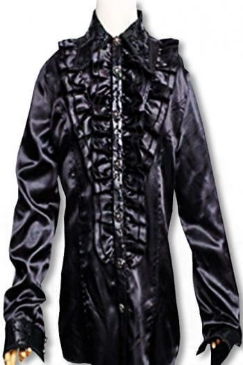 Ruffled shirt Baroque Black S