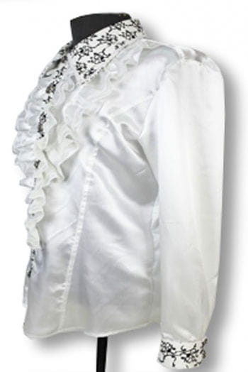 Elegant ruffled shirt White S