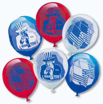 Uncle Sam Luftballons 6 St.