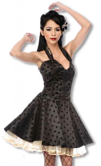 Satin Petticoat Kleid mit Leoparden Muster S S / 36
