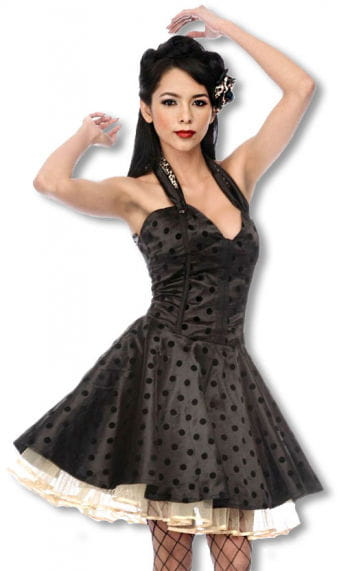 Satin Petticoat Kleid mit Leoparden Muster XL XL / 42