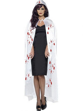 Weißer Umhang mit Blutspritzern