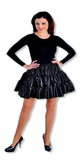 Satin Ruched Skirt Black XL