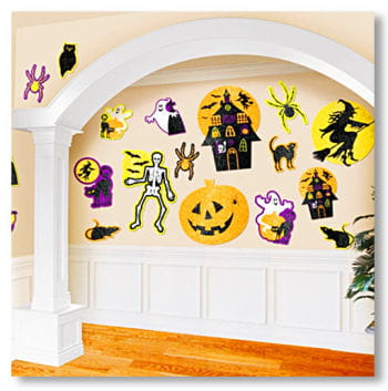 Halloween Cutouts with Glitter
