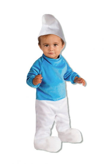 Smurf Romper with stocking cap 6-12 months
