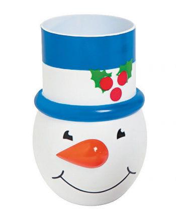Snowman cups blue
