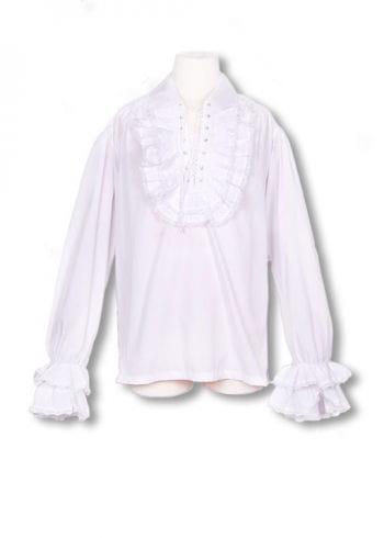 Baroque white ruffled shirt XL