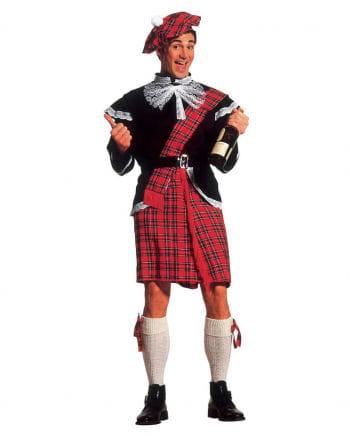Schottenkostüm mit Kilt & Jacke