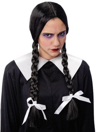 Schoolgirl Plait Wig Black