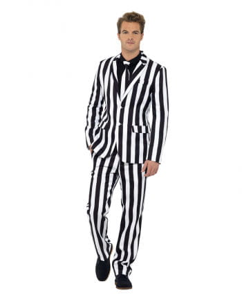 Striped suit black and white