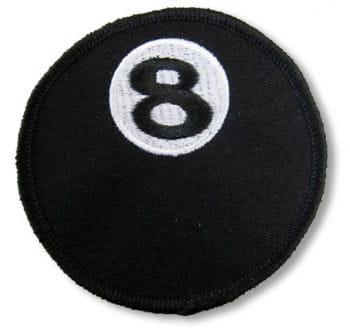 Schwarze 8 Aufnäher