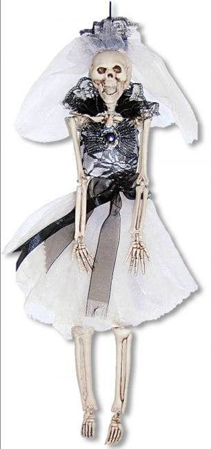 Black Skeleton Bride Hanging Figure