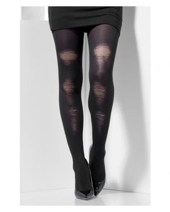 Black tights in hole design