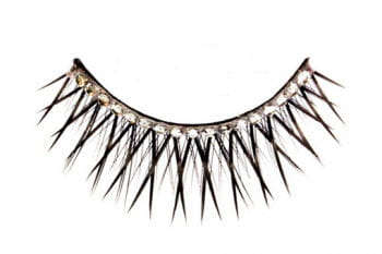 Black Eyelashes with Rhinestones