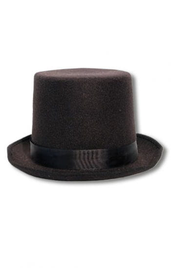 Hoher Hut mit Bandschleife schwarz