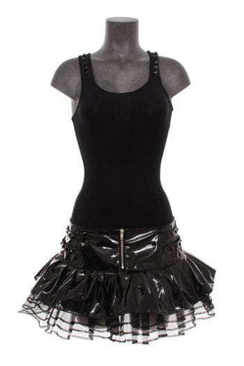 Vinyl Mini Skirt Black