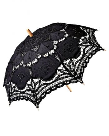 Black umbrella with lace