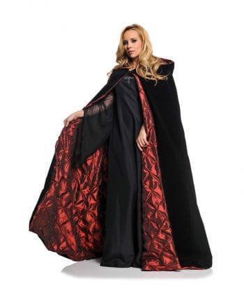 Red Lined Black Deluxe Velvet Cape