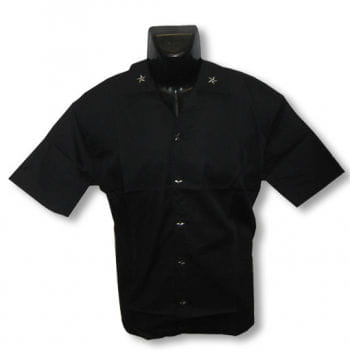 Schwarzes Hemd mit Sternen