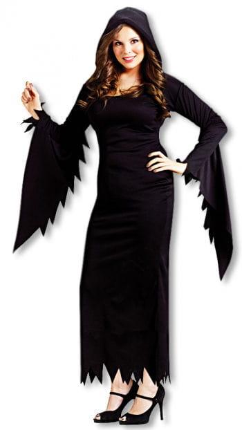 Schwarzes Kostüm Kleid mit Kapuze XXL
