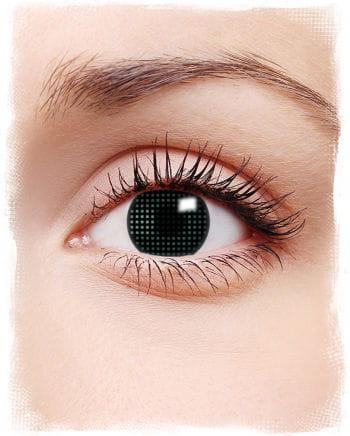 Schwarze Kontaktlinsen mit Gitternetz