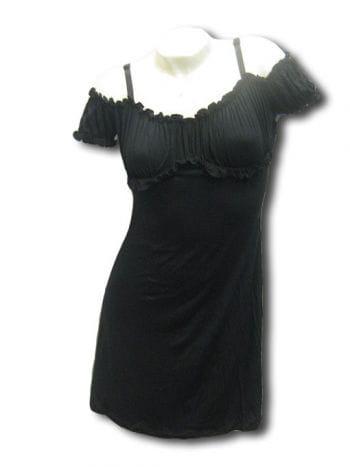 schwarzes mini Sommerkleid Gr extra Large