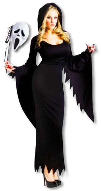 Scream Kostüm lang für Frauen S/M 36-38 S/M 36-38