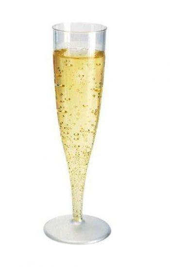 Champagnergläser aus Kunststoff