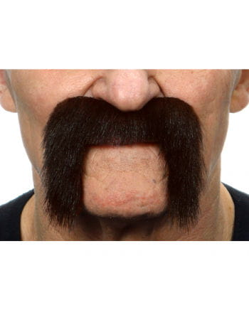 Adhesive biker mustache black-brown