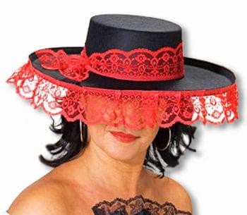 Senorita Hut schwarz rot