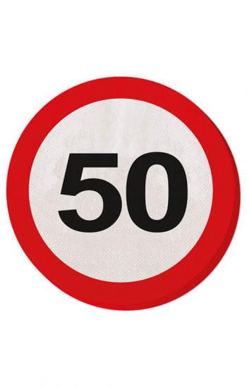 Napkin road sign 50