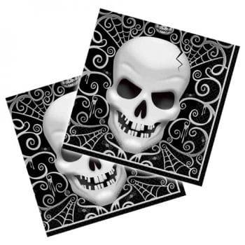 Halloween napkins with skull
