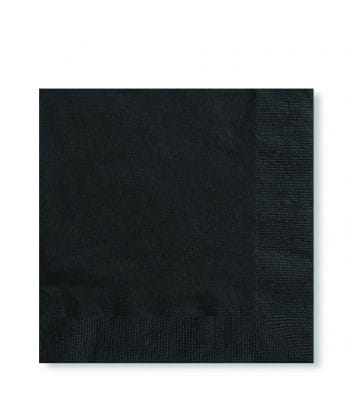Napkins Black 125 PCS