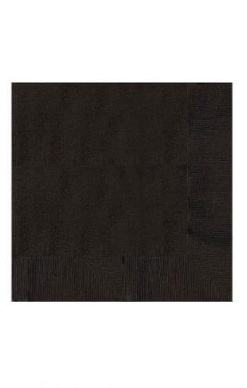 Schwarze Zellstoff Servietten